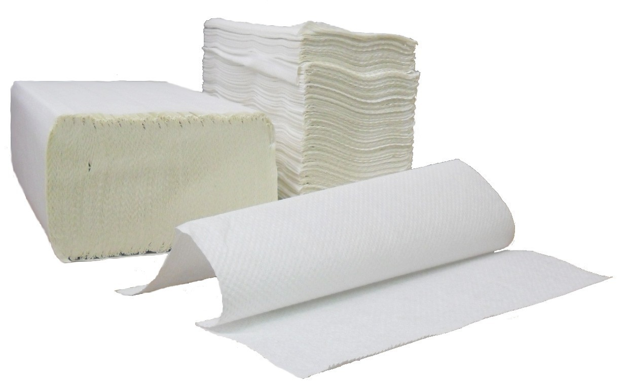 1-Ply Multifold Paper Towels, White, 4,000/Case