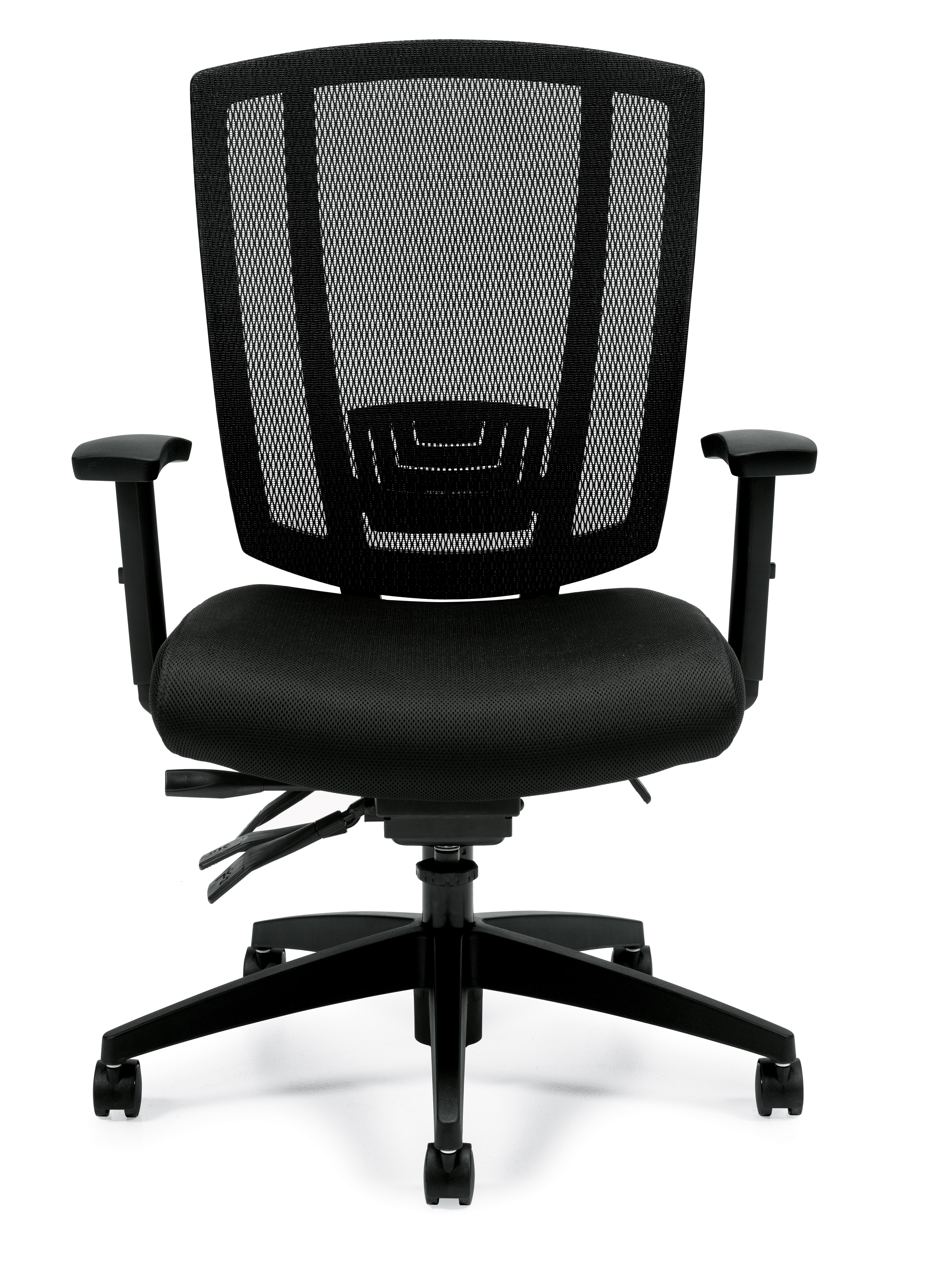 Upholstered Seat and Mesh Back Multi-Function