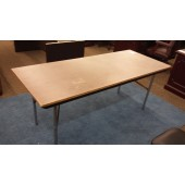 6' Wood Grain Folding Table