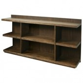 Perspectives Collection Peninsula Bookcase - Brushed Acacia Finish