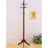 Coat Rack with Twisted Post Cherry or Oak 3058