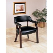 Bankers Chair without Casters Black