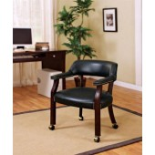 Bankers Chair with Casters Black