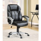 Executive Office Task Chair in Black Faux Leather 800038