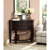 Entry Way Console Table/Hall Table in Brown Finish