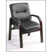 Boss Executive Guest Chair with Wood Trim B8909