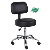 Boss Be Well Medical Spa Professional Drafting Stool With Back