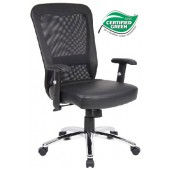 Boss Executive Task Chair Mesh with Chrome Base
