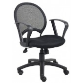 Mesh Task Chair with Loop Arms B6217