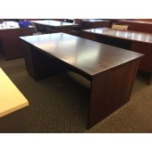 Dark Mahogany Used Executive Office Desk With Single Drawer Set
