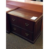 Mahogany 2 Drawer File Cabinet