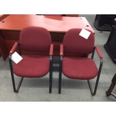 Used Burgundy Waiting Area Chairs