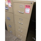 Legal Four Drawer Vertical Filing Cabinet, Putty