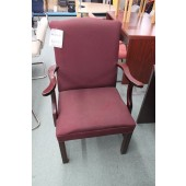 Used Burgundy Upholstered Side Chair