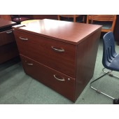 Cherry 2 Drawer Lateral File Cabinet