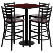"Square 30"" Bar Height Table W/4 Bar Stools"