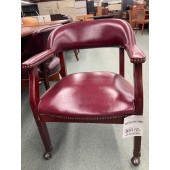Used Burgundy Captain's  Side Chair