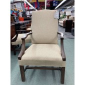 Used Tan Upholstered Side Chair