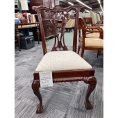 Used Mahogany Claw and Ball Side Chair